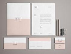 High Solution Pink Branding Stationery Mockup PSD