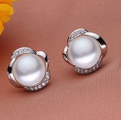 Teardrop Pearl Earrings, Pearl And Diamond Earrings, Pearl Studs, Pearl Jewelry, Bridal Jewelry, Diamond Jewelry, Jewelery, Fine Jewelry, Jewelry Necklaces