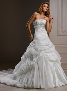Bordeaux Taffeta Crumb-catcher Neckline A-line Wedding Dress [v1022u56a-w476] - $229.00 : Cheap Prom Dresses,Party Dresses,Evenning Dresses,etc...Online.