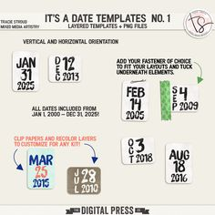 It's A Date Templates no. 1