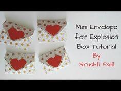 Mini Envelopes for explosion box Tutorial by Srushti Patil - YouTube افكار داخليه