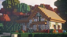 Anda's Coldtone X for – Minecraft shit – etexture Minecraft Building Guide, Minecraft Plans, Minecraft Survival, Minecraft Blueprints, Minecraft Projects, Minecraft Crafts, Building Ideas, Minecraft Cottage House, Cute Minecraft Houses