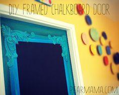 DIY chalkboard door for the girls' room