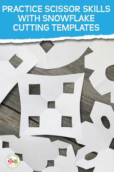 Making paper snowflakes is much easier for young kids, when you use snowflake cutting templates or patterns. It's a perfect way to work on scissor skills. Kids Educational Crafts, Science Crafts, Preschool Crafts, Educational Websites, Snow Theme, Winter Theme, Winter Activities For Kids, Science For Kids, Pre Writing