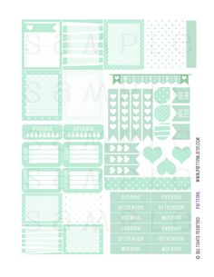 Planner Stickers  Mint'alicous Sampler 1  Planner by partyINK