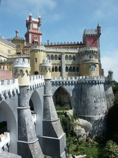 Pena Palace, Sintra, Portugal Sintra Portugal, Spain And Portugal, Serra De Sintra, Oh The Places You'll Go, Places Around The World, Places To Travel, Places To Visit, Places Ive Been, Beautiful Buildings