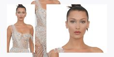 Bella Hadid Wears Sparkly Naked Dress to amfAR Gala 2017 - Bella Hadid Red Carpet Cannes Style