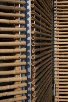 Bamboo House, passive house by Karawitz Architecture - - Bamboo Architecture, Architecture Details, Interior Architecture, Bamboo Art, Bamboo Crafts, Bamboo Ideas, Bamboo Panels, Bamboo Fence, Bamboo Building