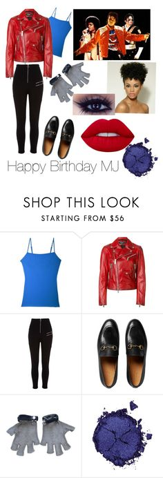 """Happy Birthday to Michael Jackson"" by danidoreus ❤ liked on Polyvore featuring Cosabella, Dsquared2, River Island, Gucci, Chanel, Pat McGrath and Lime Crime"