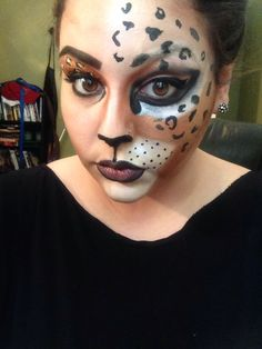 #cheetah #cat #halloween #meow #makeup #cheetahmakeup #cat #meow #purr #kitty #halloweenmakeup
