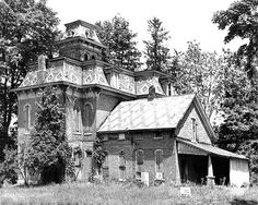 "HAUNTED SPACE: The Pest House-Knightstown, Indiana, c. 1900. Local: ""The house was purchased for a fraction of its worth by the town of Knightstown in 1902 and used as a Hospital during the Smallpox Epidemic of that year. It was given the nickname ""Pest House"" during the epidemic and the name and stigma stuck. Probably as a result, the house was boarded up and again stood empty for many, many years. When I was in high school it was a big deal for a bunch of kids to break into it on Halloween…"