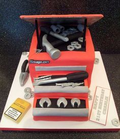 Tool Box Cake.. grooms cake idea