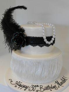 Flapper Girl Themed 1920s Cake