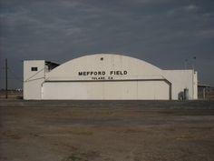 WWII era airplane hanger, Tulare, California. DSMc.2010
