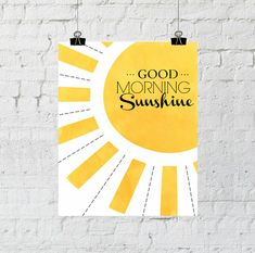 Good Morning Sunshine. 8x10 Illustrated Nursery by TheCopperAnchor, $5.00