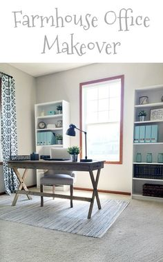 One Room Challenge Farmhouse Office Reveal