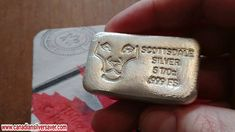 A 5 oz Scottsdale poured silver bar and why I have a preference for pour...