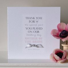personalised mother of the bride wedding card by button box cards | notonthehighstreet.com