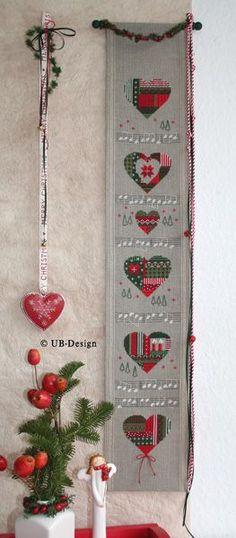 UB-Stickdesign Design Shop, Cross Stitch, Holiday Decor, Christmas, Needlepoint, Embroidery, Noel, Cross Stitch Heart, Yarn And Needle