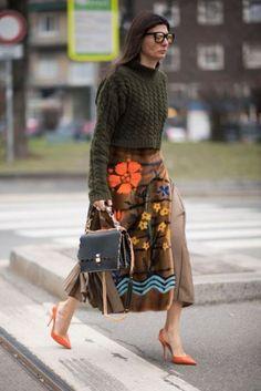 winter floral prints skirt 4