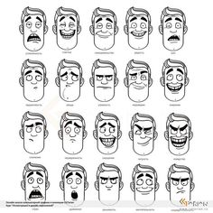 Ideas Drawing Faces Cartoon Facial Expressions Character Design For 2019 - Ideas Drawing Faces Cartoon Facial Expressions Character Design For 2019 - - Man Emotions Face ‎Эмоции (туториалы)‎ draw facial expression My bookmarks -, Рисование эмоций Character Design Animation, Character Design References, Character Drawing, Character Illustration, Drawing Cartoon Faces, Cartoon Sketches, Drawing Sketches, Cartoon Cartoon, Cartoon Design
