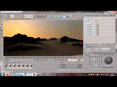 Cinema 4D | Using Mountains and Water Tutorial - YouTube