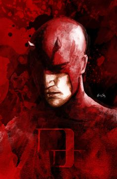 This my Daredevil. Inspired by David Mack___©__! Digitally Painted in Photoshop. Tried to make it look like a comic book front cover. the man with no fear. hope you guys like it.feedback most welcom. Marvel Art, Marvel Comic Character, Daredevil Art, Superhero Villains, Marvel Comics Art, Comic Character, Comics Universe