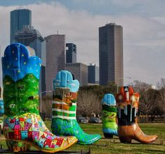 You know your in Houston when you see these boots