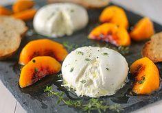 Caramelized Peaches with Burrata. Delish!