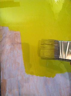 How to paint furniture with oil based paint.