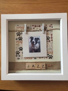 A personal favourite from my Etsy shop https://www.etsy.com/uk/listing/504791089/personalised-dog-memorial-frame