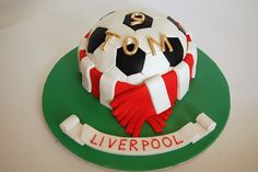 Liverpool Football Cake Best Picture For Birthday Cake For Your Taste You are looking for something, and it is going to tell you exactly what you are looking for, and you didn't fin Football Cakes For Boys, Football Birthday Cake, Birthday Cakes For Men, Barney Birthday, Dad Birthday, Liverpool Cake, Savoury Cake, Clean Eating Snacks, Cake Decorating