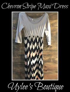 """This is a beautiful brand new Ladies chevron striped maxi dress. Made of 100% polyester. Has a rounded neck line, long sleeves and long in length. The item is new without tags and has never been worn.    Size Large with the following measurements:    Bust 34.25""""-35.03""""    Waist 26.38""""-27.17""""    Hips 37.40""""-38.19""""    Length 60.24""""     This item ships immediately to US addresses. Also available for local try on and pick up in Sacramento, CA. for known Customers.           Shop this…"""