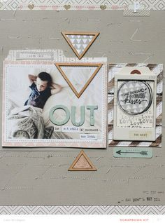 #papercraft #scrapbook #layout. OUT by ljbridges at @studio_calico - stitched background