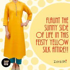 Brighten up your days with Zoyashi's range of Silk Collection. For more, log onto: http://zoyashi.com/collections/silk or visit us at C-14 Sushant Lok, Phase-i, Gurgaon #Silk #Marathon #Zoyashi #RockThisLookWithZoyashi #TussarSilk #MadeInIndia #ethnic #Wear #Indian #LoveForEthnic
