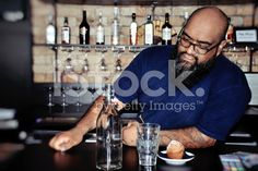 Pacific Island Barman royalty-free stock photo