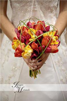 Caged Tulip Bouquet
