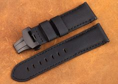24mm Handmade Genuine Kevlar Leather Watch Strap Band for PAM000 Mens Watch