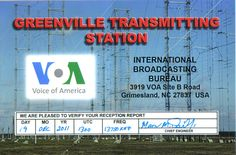 Voice of America via Greenville, NC (USA)