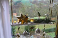 Hängetablett Hängeregal  Fensterdeko Kerzenständer Windlichter Advent weiss | Möbel & Wohnen, Dekoration, Kerzenständer & Teelichthalter | eBay!
