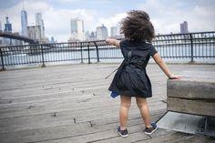 Black Designer Wrap Dress for Girls with Emboidery – Infantium Victoria