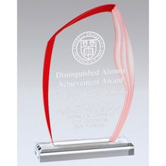 Our Red Wave Acrylic Award features a clear piece of acrylic for laser engraving personalization with a red wave accent around the outside, all mounted on a clear acrylic base. Acrylic Trophy, Acrylic Awards, Red Accents, Different Colors, Waves, Health, Poster, Health Care, Ocean Waves