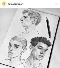 Boy sketches I posted on my Patreon few weeks ago! ✏ I'm feeling more comfortable drawing guys now, but expressing emotions is certainly… Demon Drawings, Realistic Drawings, Love Drawings, Drawing Sketches, Boy Sketch, Sketch Painting, Drawing Techniques, Art Sketchbook, Drawing People