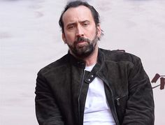 American actor Nicolas Cage attends a press conference for their new movie 'Outcast' in Beijing, China, October 20, 2013.