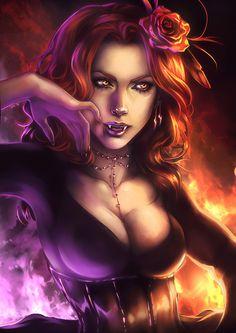 Vampire bloody queen by ElephantWendigo