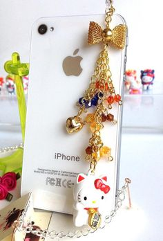 iphone dust plug Hello Kitty strap collectable by ComfyZone, $15.00