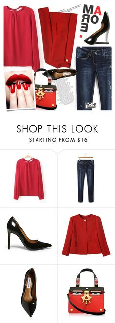 """""""YOINS/5"""" by ansev ❤ liked on Polyvore featuring Steve Madden, Giancarlo Petriglia, Nails Inc., women's clothing, women, female, woman, misses, juniors and yoins"""