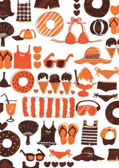 夏の準備 Kids Rugs, Illustration, Pattern, Image, Profile, Sweets, Decor, User Profile, Decoration