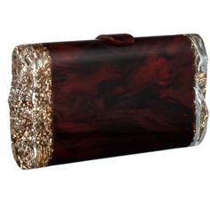 Edie Parker Back Lit Tortoise Shell Lara Clutch ($895) ❤ liked on Polyvore featuring bags, handbags, clutches, red clutches, lucite box clutch, tortoise shell purse, hard clutch and edie parker handbags