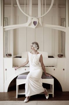 Photography of Lindsay Fleming's new collection of 20s inspired wedding dresses - All That Jazz - Wedding Photographers Edinburgh, Glasgow, across Scotland and destination weddings- Archibald Photography